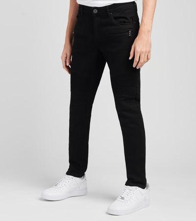 Crysp  Buckle Back Denim Jeans L32  Black - CRYSPOCT02-BLK | Jimmy Jazz