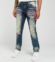Create 2MRW  RNR Jeans With Allover Color Stitch  Black - CS1605-VN | Jimmy Jazz