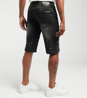 Create 2MRW  RNR Denim Shorts With Motor Ribs  Black - CS1713-BK | Jimmy Jazz