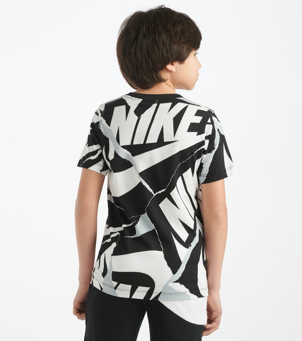 Nike  Boys 8-20 NSW Multi Branding Mark Tee  White - CT2618-101 | Jimmy Jazz