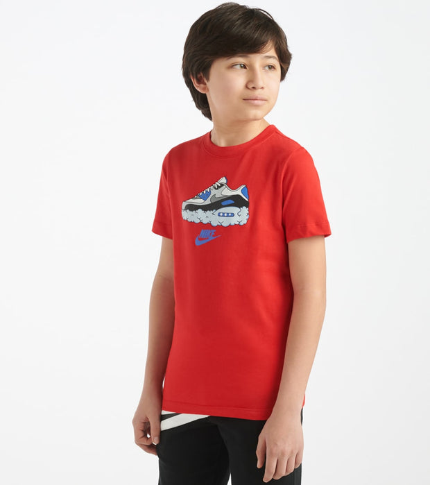 Nike  Boys NSW Air Max 90 Tee  Red - CT2629-657 | Jimmy Jazz
