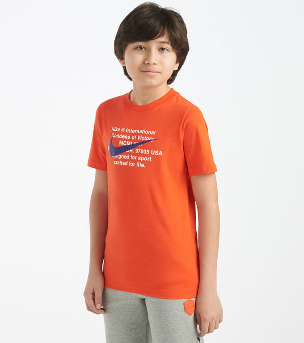 Nike  Boys 8-20 NSW Swoosh For Life Tee  Orange - CT2632-891 | Jimmy Jazz