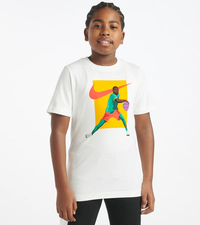 Nike  Boys 8-20 NSW Kyrie Handles Tee  White - CT2648-100 | Jimmy Jazz