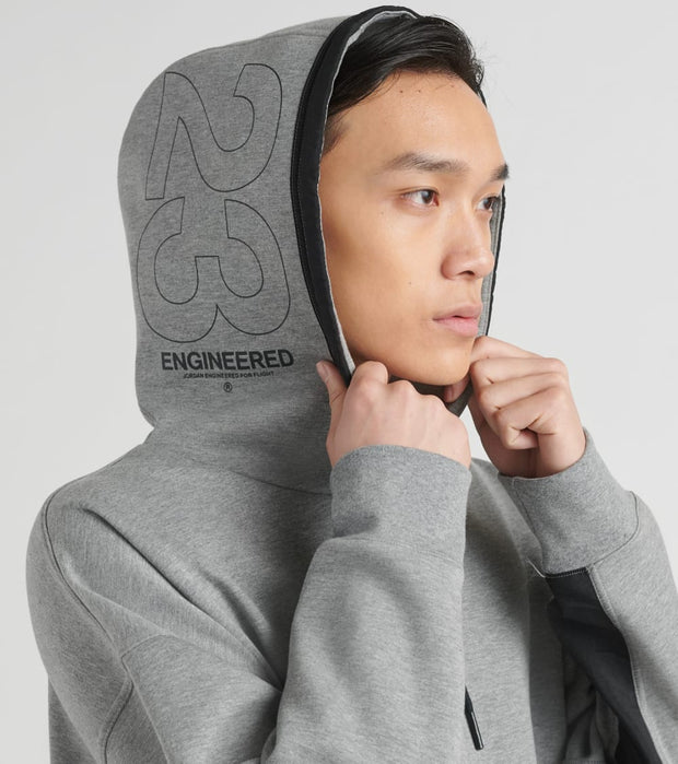 Jordan  23Eng Fleece Pullover Hoodie  Grey - CT2930-091 | Jimmy Jazz
