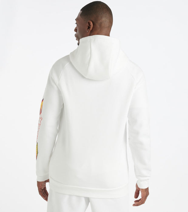 Jordan  MJ Sticker Pullover Hoodie  White - CT6723-100 | Jimmy Jazz