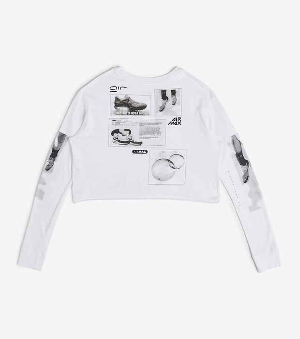 Nike  NSW Tee Crop Long Sleeve Lux Raw  White - CT8917-100 | Jimmy Jazz