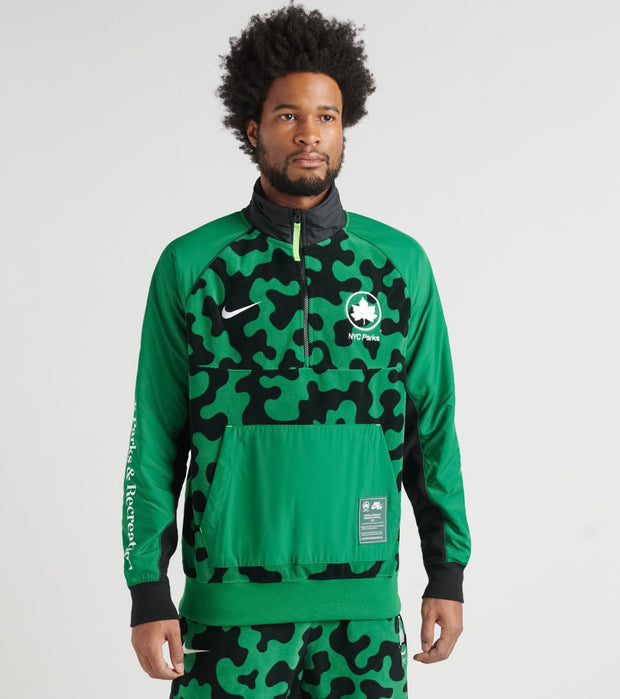 Nike  NSW Half Zip Winter NYC Parks Jacket  Green - CU1394-302 | Jimmy Jazz