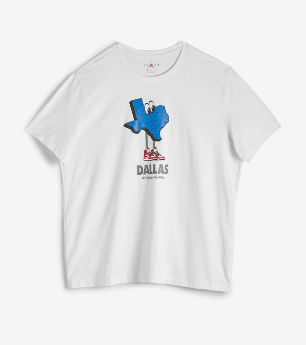Jordan  Dallas Bred Tee  White - CU2105-100 | Jimmy Jazz