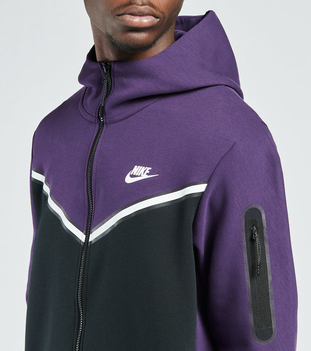 Nike  NSW Tech Fleece Full Zip Hoodie  Purple - CU4489-503 | Jimmy Jazz