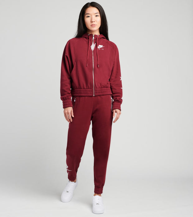 Nike  NSW Full Zip Air Hoodie  Burgundy - CU5442-638 | Jimmy Jazz