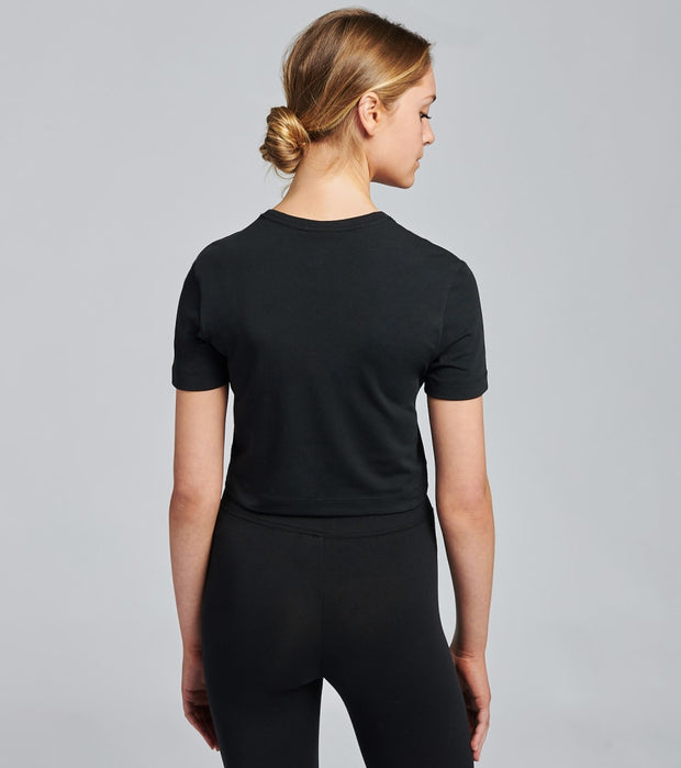 Nike  NSW Air Short Sleeve Crop Top  Black - CU5562-011 | Jimmy Jazz