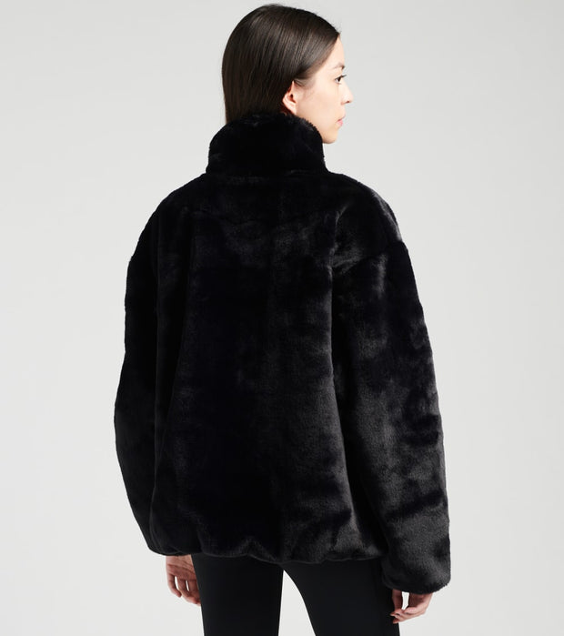 Nike  NSW Faux Fur Jacket  Black - CU6558-010 | Jimmy Jazz