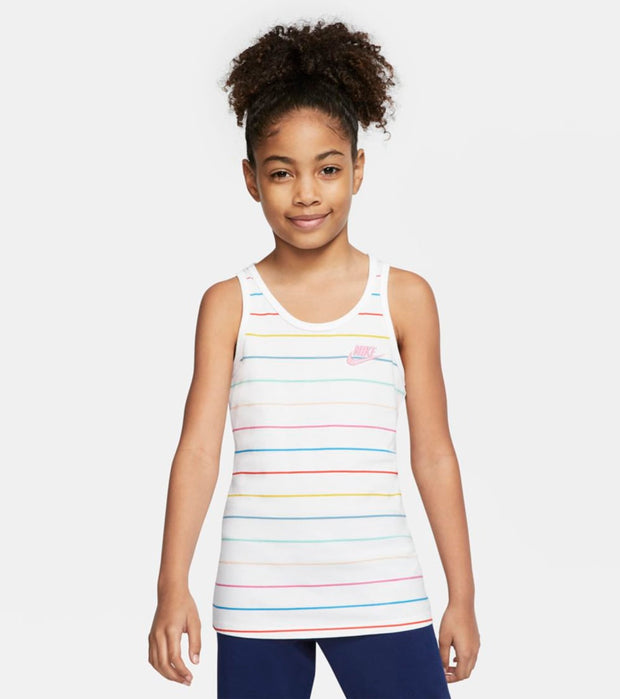 Nike  Girls Nike Sports Wear Go Stripes  White - CV2183-101 | Jimmy Jazz
