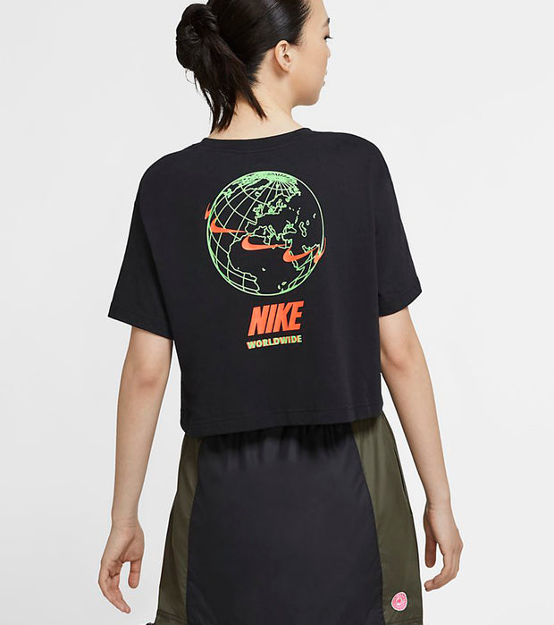 Nike  NSW Worldwide 2 Crop Tee  Black - CV9169-010 | Jimmy Jazz