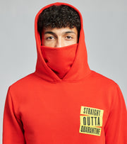 Straight Outta Pullover Hoodie With Built In Face Mask