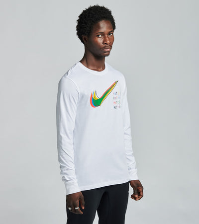 Nike  NSW Multi Color Long Sleeve Tee  White - CW0479-100 | Jimmy Jazz