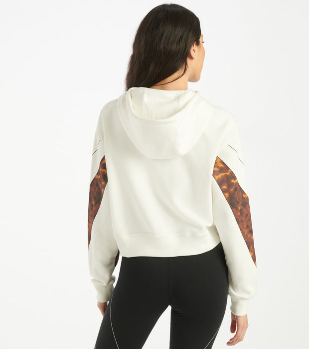 Nike  NSW Cropped Tortoise Hoodie  White - CW4716-133 | Jimmy Jazz