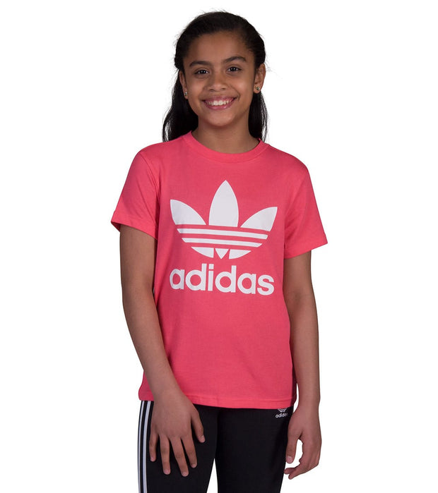 Adidas  Junior Trefoil Tee  Pink - CY2296-675 | Jimmy Jazz
