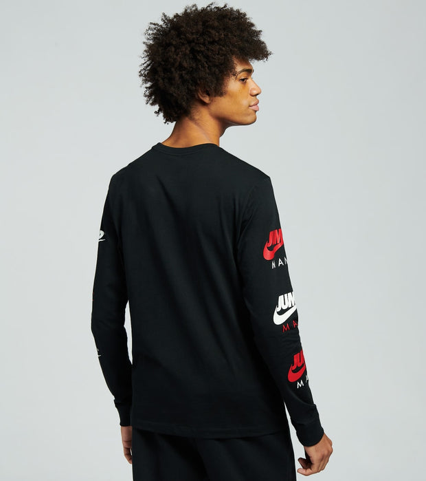 Jordan  Jumpman Long Sleeve Crew Tee   Black - CZ0434-010 | Jimmy Jazz