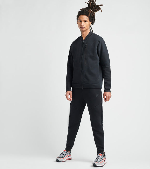 Nike  NSW Tech Fleece Bomber Hoodie  Black - CZ1797-010 | Jimmy Jazz