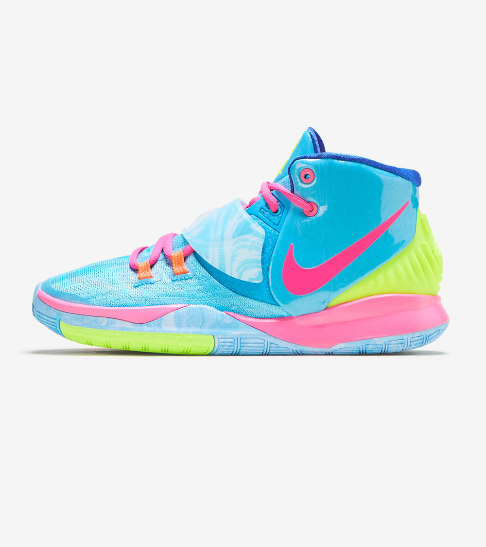 Nike Kyrie 6 Pool Shoes in Blue/Pink