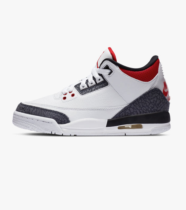 Jordan  Retro 3 SE Fire Red Denim  White - CZ6634-100 | Jimmy Jazz