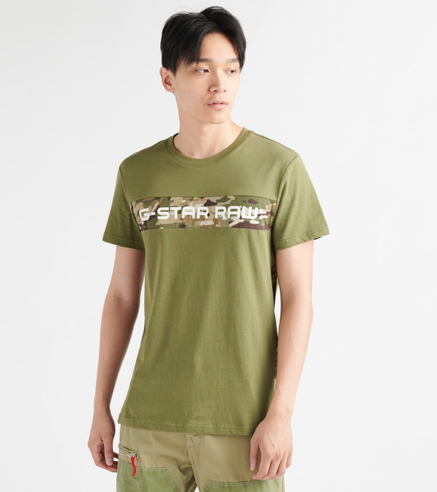 G-Star  Graphic 7 SS Tee  Green - D12868336724-SGE | Jimmy Jazz