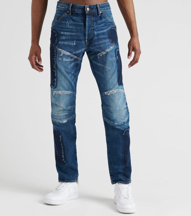 G-Star  5620 3D Badges Straight Tapered Jeans  Blue - D129359785A574-MAG | Jimmy Jazz