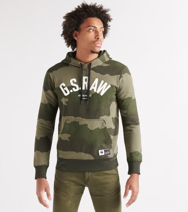 G-Star  Graphic 13 Core Pullover Hoodie  Green - D14731B531A695-SMR | Jimmy Jazz