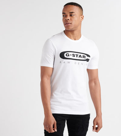 G-Star  Graphic Tee  White - D15104336110-WHT | Jimmy Jazz