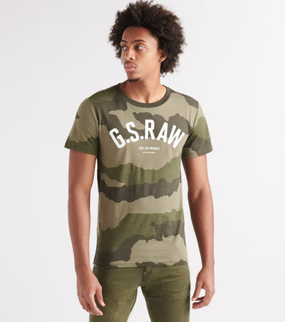 G-Star  Graphic 13 R T SS Tee  Green - D15247B719A695-SMR | Jimmy Jazz
