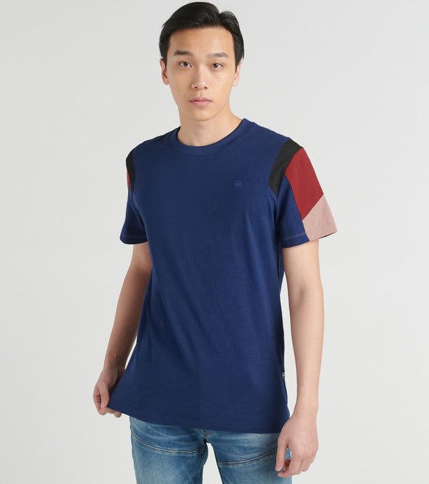 G-Star  Motac Fabrix Mix Tee  Blue - D16430B2551305-BLU | Jimmy Jazz