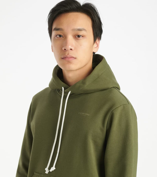 G-Star  Originals Backpanel Hoodie  Green - D16472A612B111-WRO | Jimmy Jazz