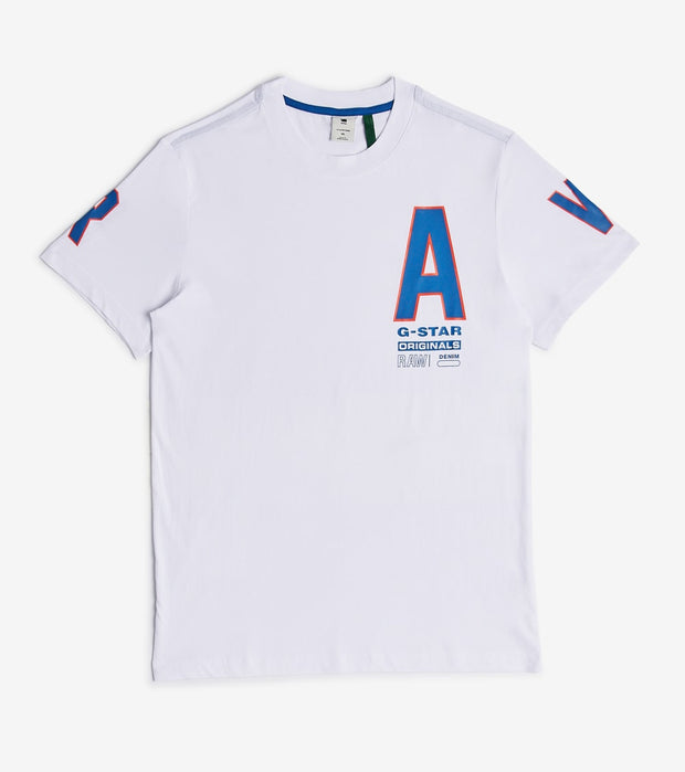G-Star  Multi Space Raw Tee  White - D17113336110-WHT | Jimmy Jazz