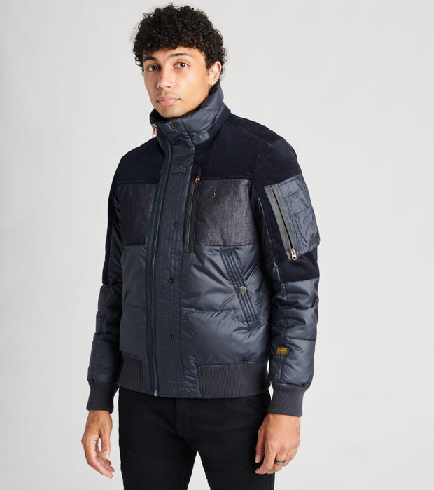 G-Star  Denim Mix Quilted Puffer Jacket  Blue - D17593B9584213-MBL | Jimmy Jazz