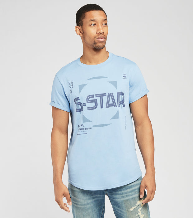 G-Star  Lash Graphic Short Sleeve Tee  Blue - D192693361852-BLU | Jimmy Jazz
