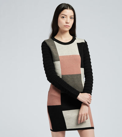 One In A Million  Sweater Bodycon Dress  Pink - D2011-4 | Jimmy Jazz
