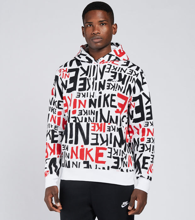 Nike  NSW Club Pullover Hoodie  Red - DA0061-657 | Jimmy Jazz