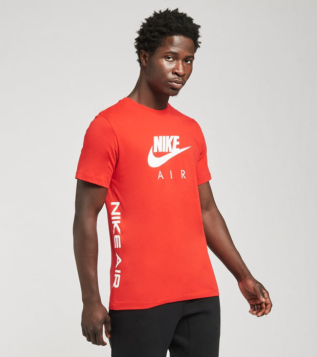 Nike  NSW Air HBR 2 Short Sleeve Tee  Red - DA0933-657 | Jimmy Jazz
