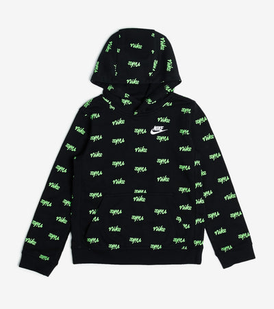 Nike  Boys NSW Script Print Hoodie  Black - DB3257-010 | Jimmy Jazz