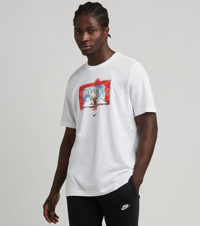 Nike  Nike Dry Photo Short Sleeve Tee  White - DB5991-100 | Jimmy Jazz