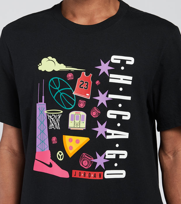 Jordan  Chicago City Short Sleeve Tee  Black - DB9361-010 | Jimmy Jazz