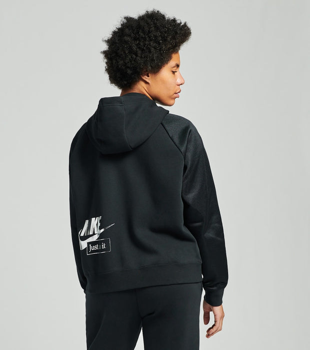 Nike  NSW Icon Clash Fleece Hoodie  Black - DC0650-010 | Jimmy Jazz