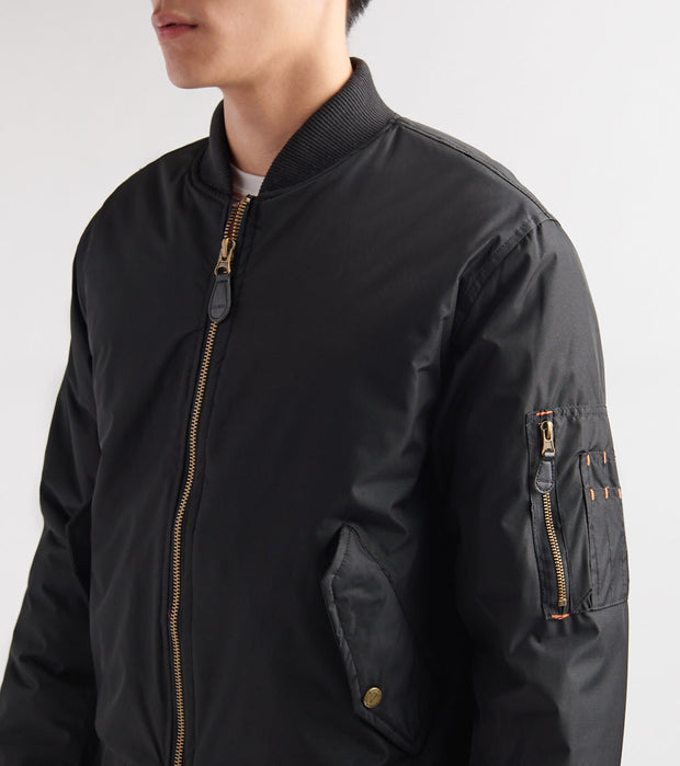 Decibel  Nylon Solid Filled Jacket  Black - DC2018-BLK | Jimmy Jazz