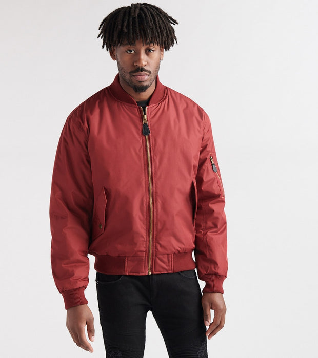 Decibel  Nylon Solid Filled Jacket  Burgundy - DC2018-BUR | Jimmy Jazz
