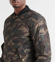 Decibel  Decibel Nylon Camo Solid Filled Jacket  Green - DC2018-CAM | Jimmy Jazz