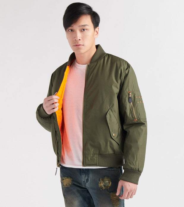 Decibel  Nylon Solid Filled Jacket  Green - DC2018-OLV | Jimmy Jazz