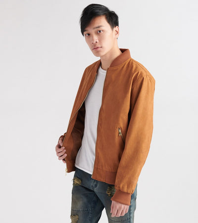 Decibel  Suede No Fill Flight Jacket  Brown - DC2019-BRN | Jimmy Jazz