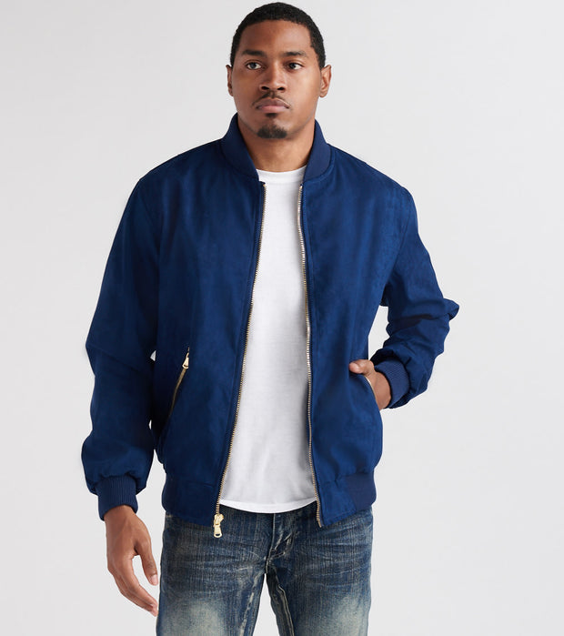 Decibel  Suede No Fill Flight Jacket  Navy - DC2019-NVY | Jimmy Jazz