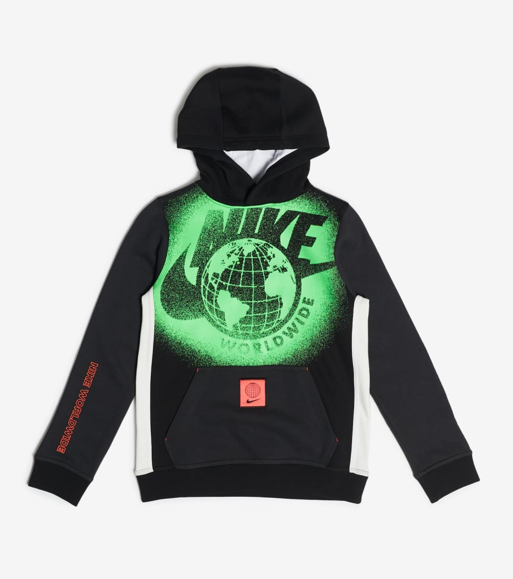 Nike  Boys Club Pullover World Wide Hoodie  Black - DC3012-010 | Jimmy Jazz